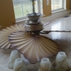 Tropical Style Ceiling Fan with Lights & Remote