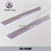 Holden Trax Car accessory stainless steel scuff plate door sill plate lights LED