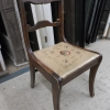 Wooden Chair With Woven Seat L168