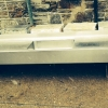 Large 9 ft x 2 ft Stainless Steel sink, double drain