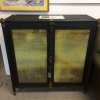 Black Cabinet w/ Frosted Glass