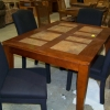 Inlaid Dining Table with (4) Chairs