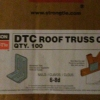 Simpson Strong Tie DTC Roof Truss Clips QTY 100