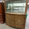 Glass Shelf and Wooden Drawer Display Cabinet