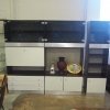 Wood and Glass Entertainment Center w/ Backlight