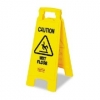 NEW! - Rubbermaid Yellow CAUTION Wet Floor Sign - 2-SIDED