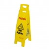 NEW - 4-SIDED RubberMaid Yellow Caution Wet Floor Sign