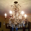 Elegant Grand Formal Chandelier*Antique Brass*Chrystal*6 Lights*MINT