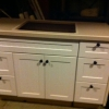 50 in 5 drawer, center cabinet bath vanity with top