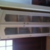 One of a kind antique arched cabinet/hutch