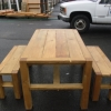 Sturdy Wood Picnic Table 