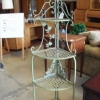 Verdigris Corner Plant Stand
