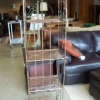 Copper Finish Plant Stand