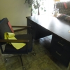 Blue Office Desk with Chair