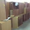 Brown Wood Cabinet Set -Great Condition!!!)