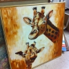 Framed Canvas Giraffe Artwork