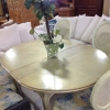 Gold Kitchen Table W/ 6 Chairs(ellipse)
