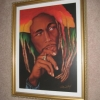 Bob Marley Painting and Frame
