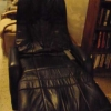 Black Leather Massage Recliner