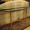 Brass and Glass Couch Table