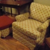 Cream and Pumpkin Ladies Chair w/ ottoman