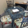 Glass Patio Set w/ 4 Chairs