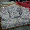 Floral-Patterned Sofa