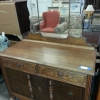 Antique Wood Dresser w/ Mirror