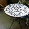 Metal Patio Table with Tile Top