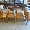Wood Chairs w/ Rattan Backing D093