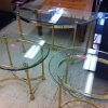 Glass Sofa Table $49 & End Tables $35 ea