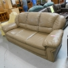 Tan Leather like sofa - ReStore OC Santa Ana