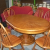 Large Pedestal Table with (6) Chairs
