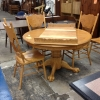 6 Piece Oak Wood Dining Set