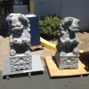 40\'\'  Carved Stone Fu Dogs /Chinese guardian lions/Son of the Dragon (Pair)