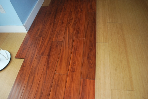 Brand new in the box handscraped solid bamboo quotgolden for Bamboo flooring portland