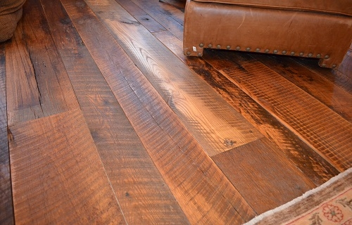Reclaimed Pub Oak Skip Planed Face Wide Plank Flooring